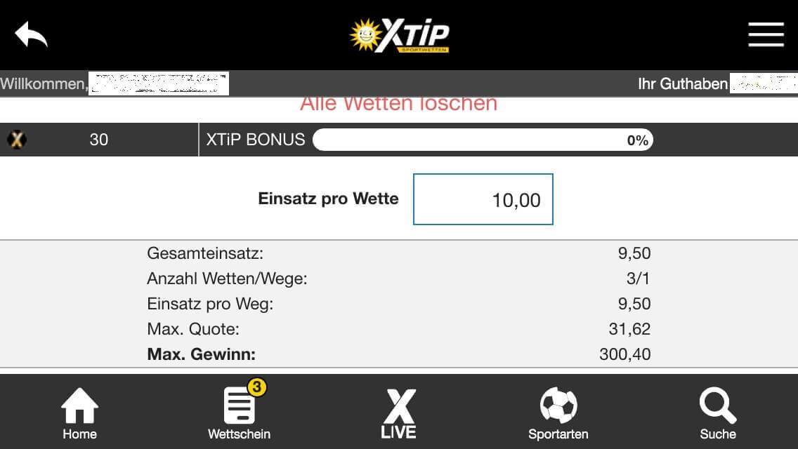 x-tip app wettschein