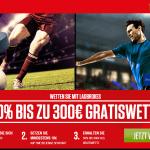 Ladbrokes Bonus für Neukunden - 300 Euro Gratiswette