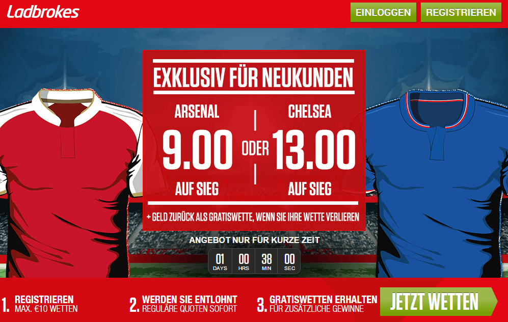 ladbrokes arsenal chelsea quoten