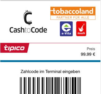 tipico pay app einzahlung mobil unterwegs bargeld ec