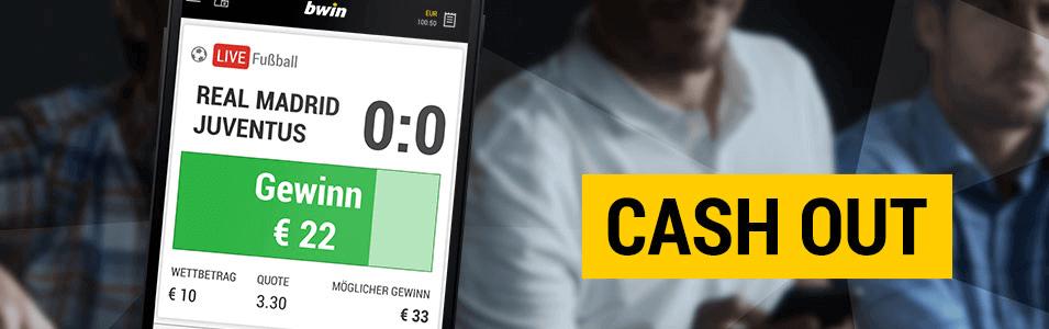 bwin cash out in der app kann ich bwin cash out in der app benutzen neue funktion frühzeitig auszahlen bwin sportwetten