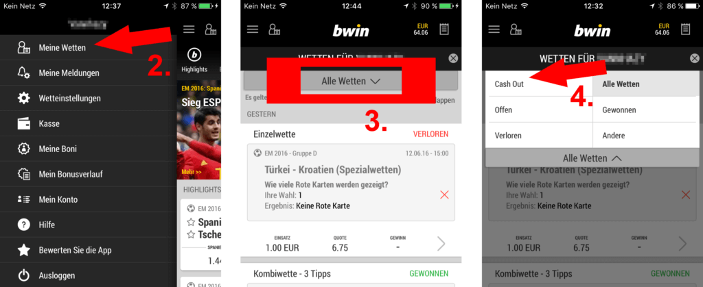 bwin cash out anleitung