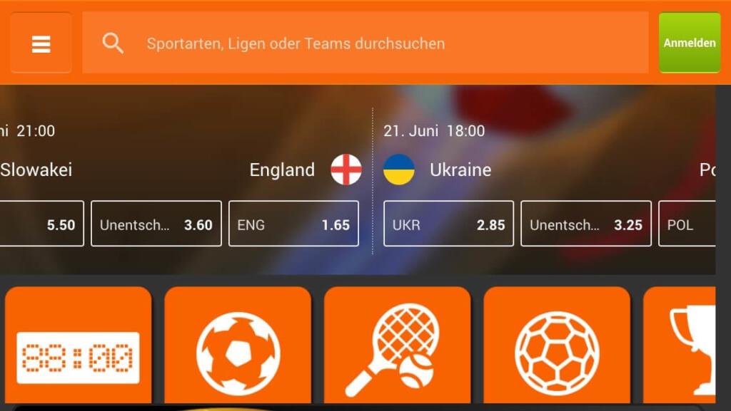 888sport App Lobby