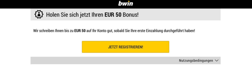bwin mobile Landing Page
