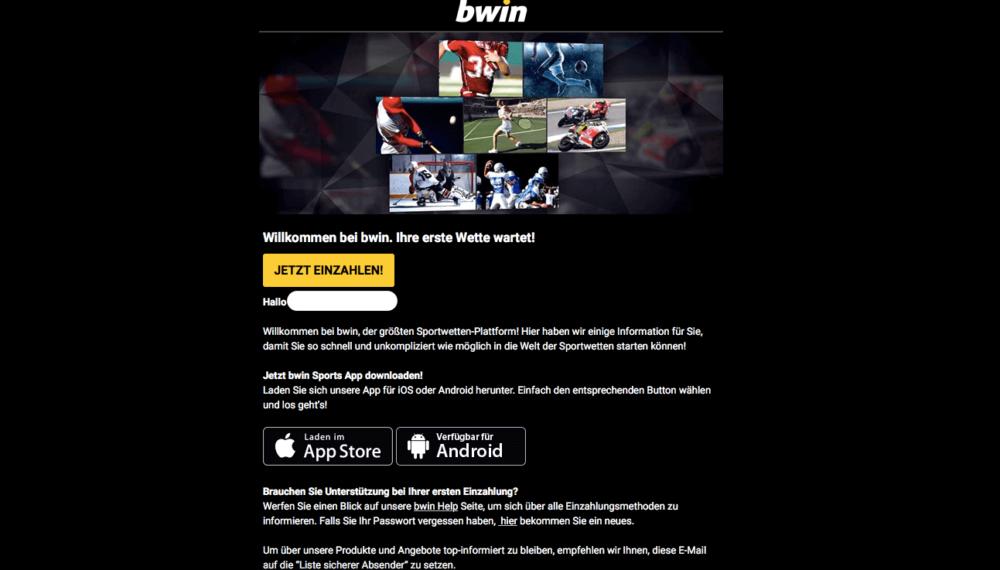 bwin Reg Email