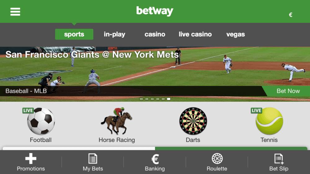 betway app lobby