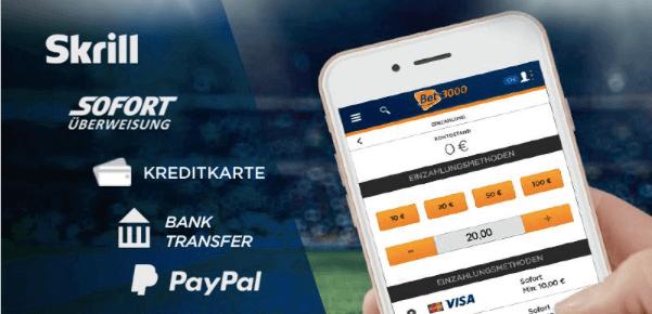 neue mobile einzahlungsoptionen bei bet3000