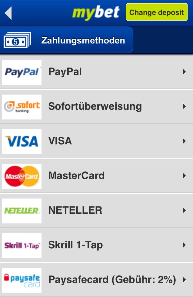 mybet einzahlung