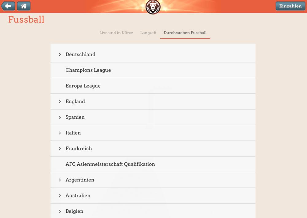LeoVegas Sport App Fußball Wetten